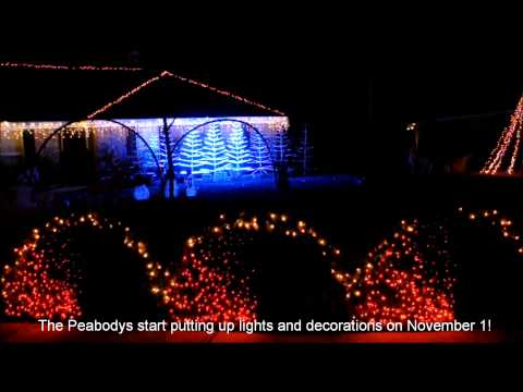 Christmas Lights in Savannah, Georgia (2013)