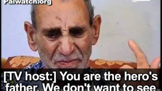 "PA and Fatah honor terrorist prisoner as ""hero,"" interview with crying father"