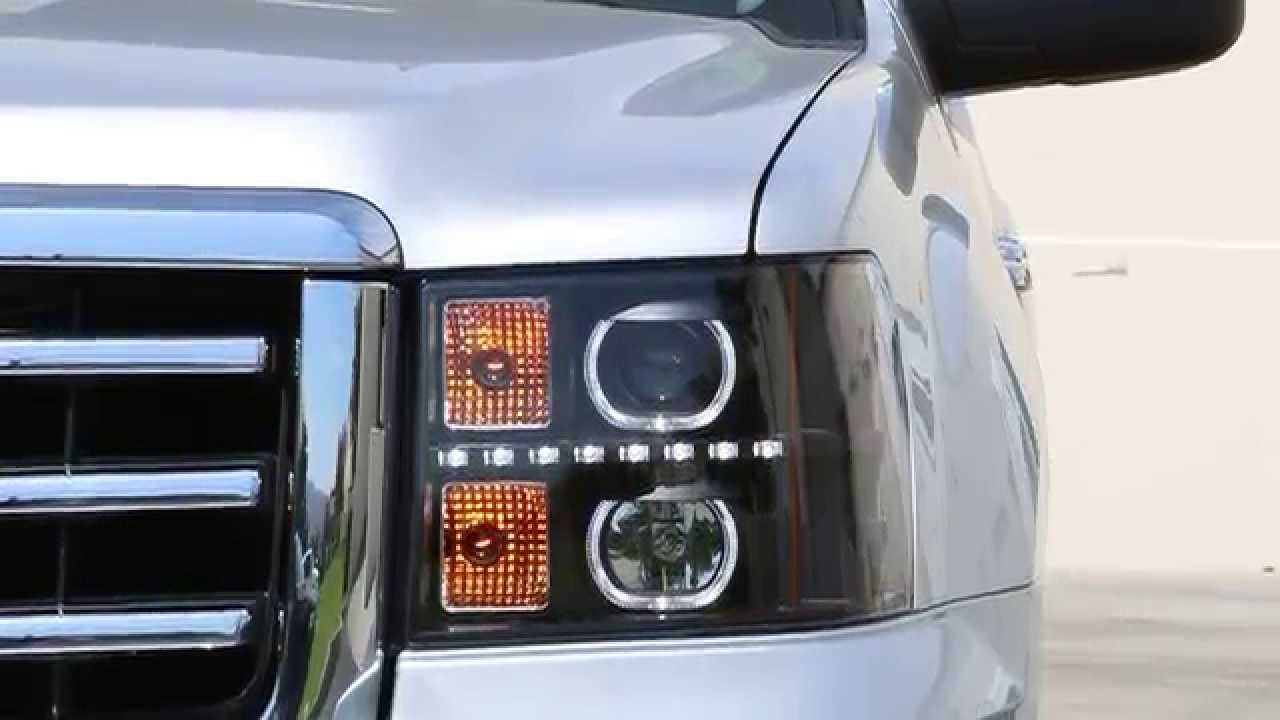 07 13 Gmc Sierra 1500 2500 And 3500 Led Halo Projector