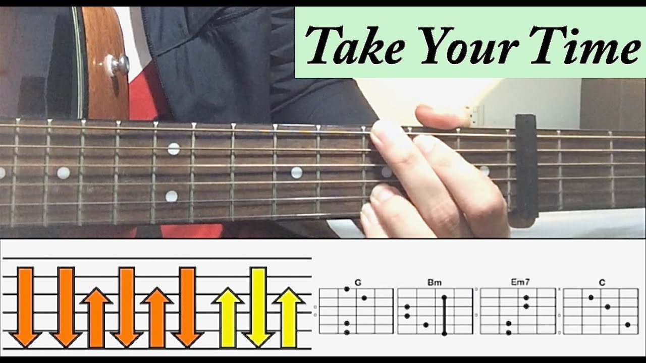 Sam Hunt Take Your Time Guitar Tutorial Easiest Lesson Youtube