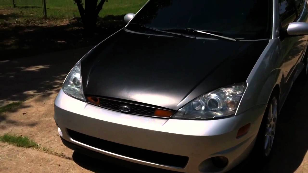 Svt Ford Focus With Vinyl Wrapped Hood Youtube