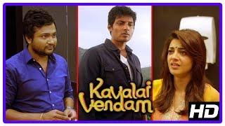 Kavalai Vendam Climax Scene | Jiiva and Kajal Aggarwal unite | End Credits | Bobby Simha