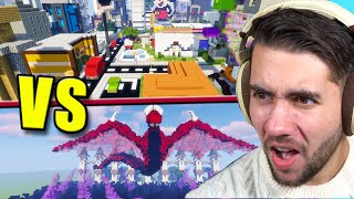 Can 100 Noobs Beat 1 PRO Minecraft Builder in a Build Off?