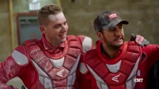 Dude Perfect and Luke Bryan Have The Ultimate Archery Kart Battle