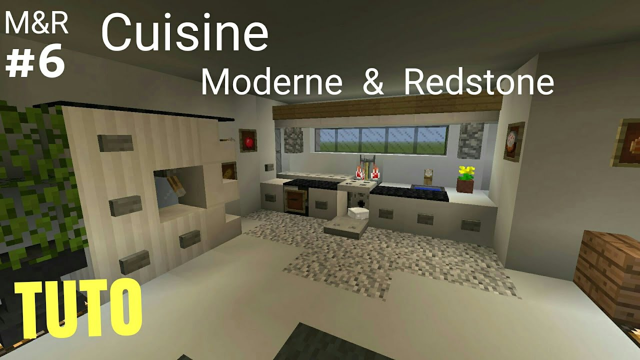 TUTO Minecraft Maison Moderne & Redstone : Cuisine part.6 PS4 (PS3 ...