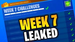 Fortnite WEEK 7 CHALLENGES LEAKED! (Fortnite: Battle Royale) [SEASON 4]