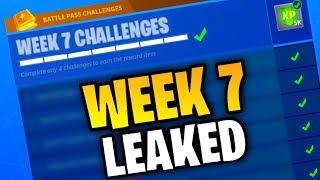 Fortnite WEEK 7 CHALLENGES LEAKED! (Fortnite: Bataille Royale) [SAISON 4]