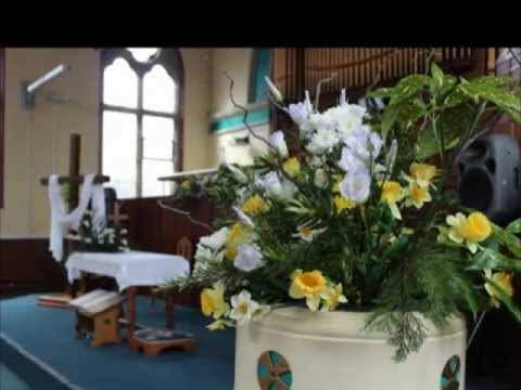 easter floral decorations at methodist church shifnal