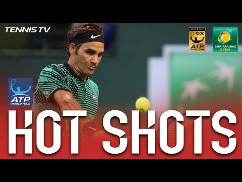 Federer Thumps Twin Backhand Hot Shots vs. Nadal At Indian Wells 2017