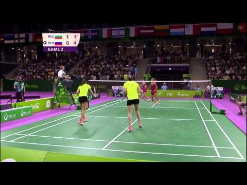 Bulgaria vs. Russia - Badminton Baku 2015