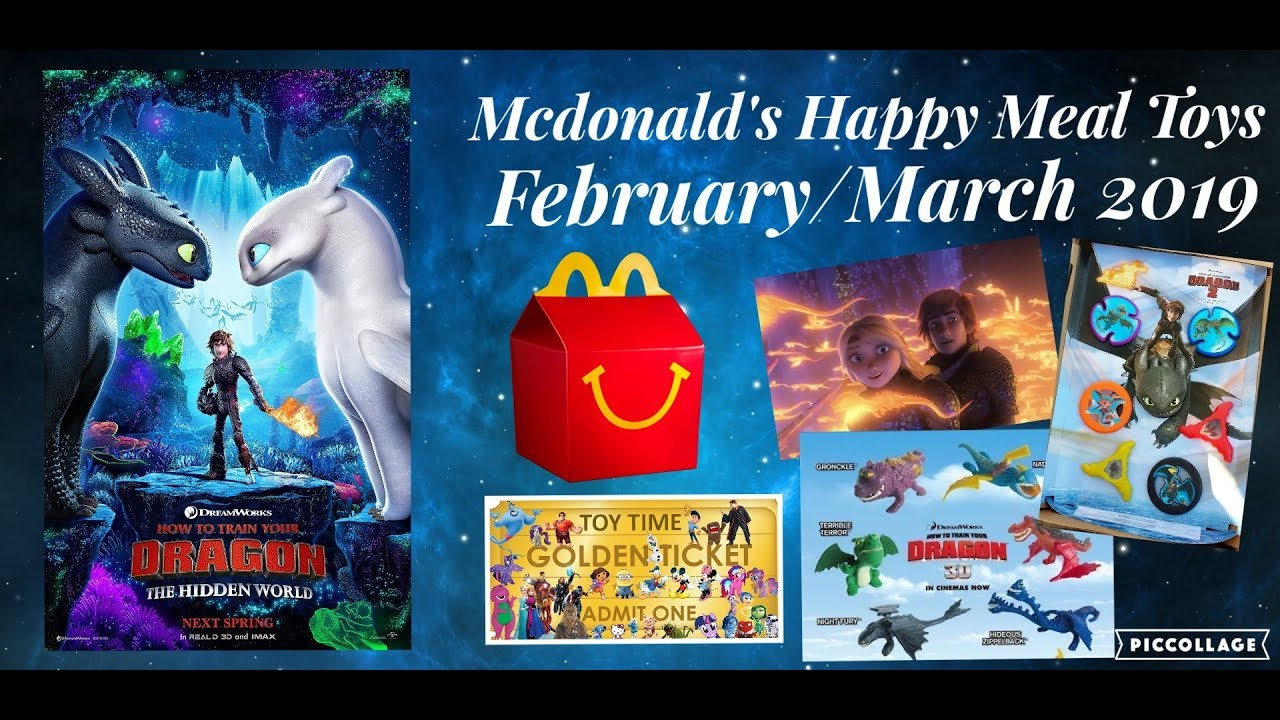 How To Train Your Dragon 3 The Hidden World Happy Meal Toys In February 2019 Predictions Youtube