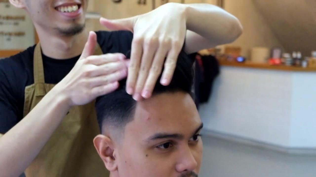 king pompadour pomade review haircut at dibawah pohon barbershop