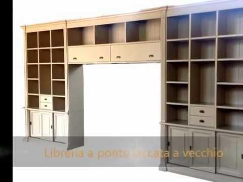 Produzione e realizzazione di librerie a ponte pareti for Librerie pareti attrezzate