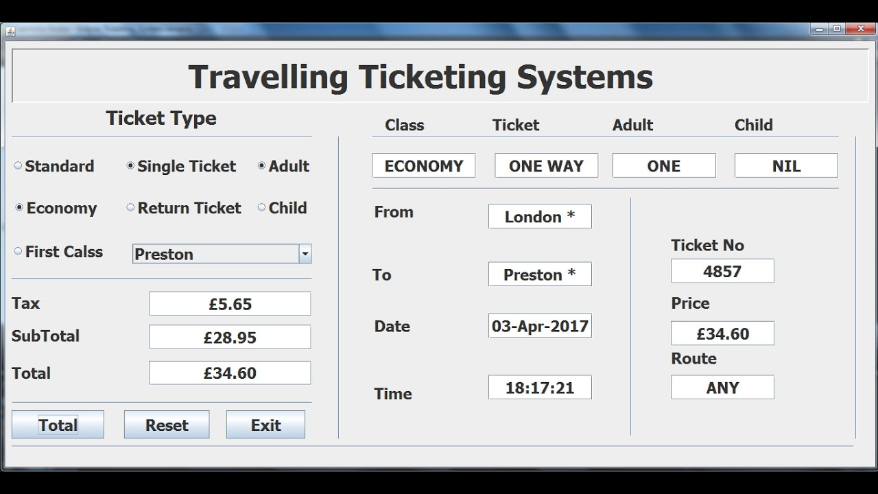 How to Create Travelling Ticketing System in Java Eclipse