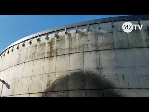 Feuerwehreinsatz in Hayn (Mansfelder Land) - Gülle spritzt aus Leck in der Biogasanlage