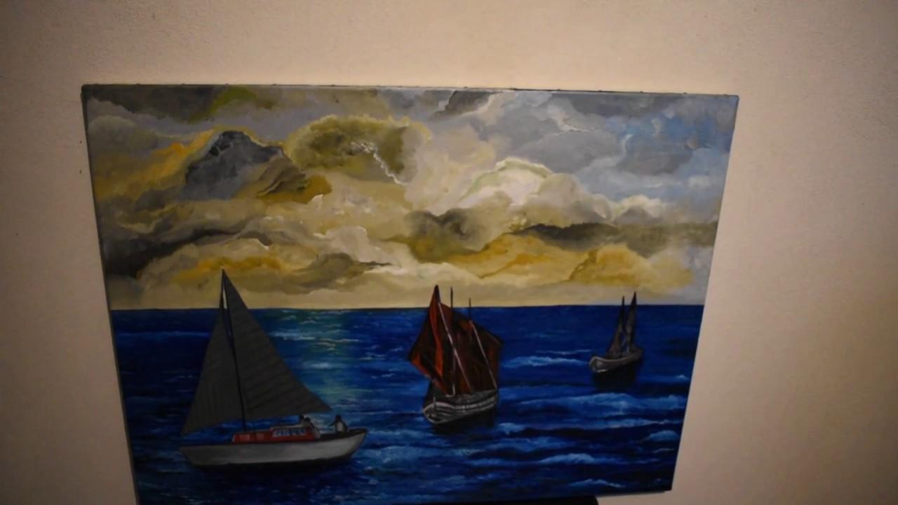 peinture bateau, navigué en mer - YouTube