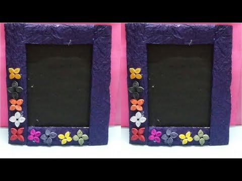 Easy and beautiful Quilling photo frame || Quilling paper art photo frame.