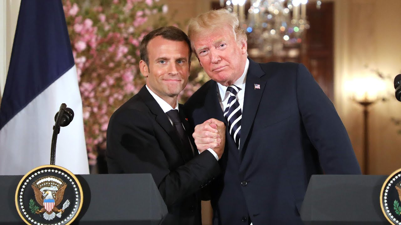 Five touching moments between Donald Trump and Emmanuel Macron