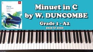 🎹 TUTORIAL: ABRSM Grade 1 Piano (2019 & 2020): A2 - DUNCOMBE Minuet