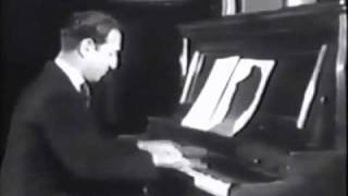 Gershwin plays Strike Up The Band rare film footage