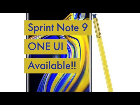 Sprint Galaxy Note 9 One UI Android Pie Update | T-Mobile FREE Tacos