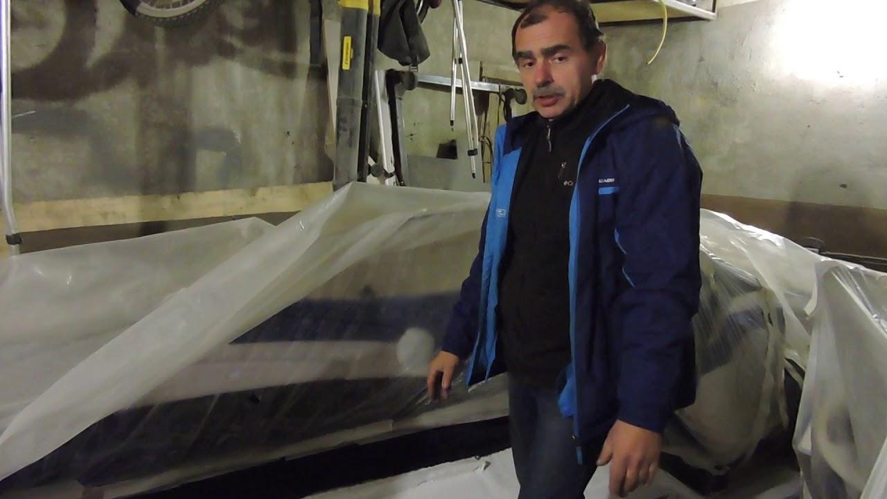 Ремонт днища катера Bayliner 1700 продолжение.