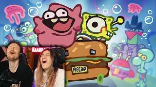 """НАСТОЯЩАЯ ВЕРСИЯ СПАНЧ БОБ The Ultimate """"Spongebob Squarepants Movie"""" Recap Cartoon РЕАКЦИЯ"""