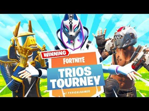 MECH IS GONE!! Trios Cash Cup Tournament! (Fortnite Battle Royale)