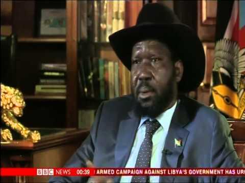 President Salva Kiir of South Sudan on BBC Hardtalk