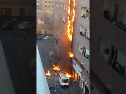 Massive building fire in Bur Dubai 2018!|Fire destroys homes of many|Building catches fire in Dubai|