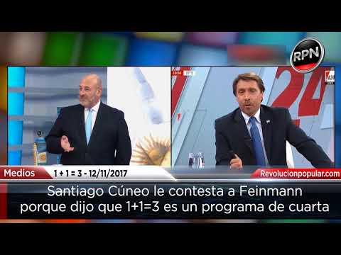 Santiago Cúneo le responde a Feinmann por decir que su programa es de cuarta