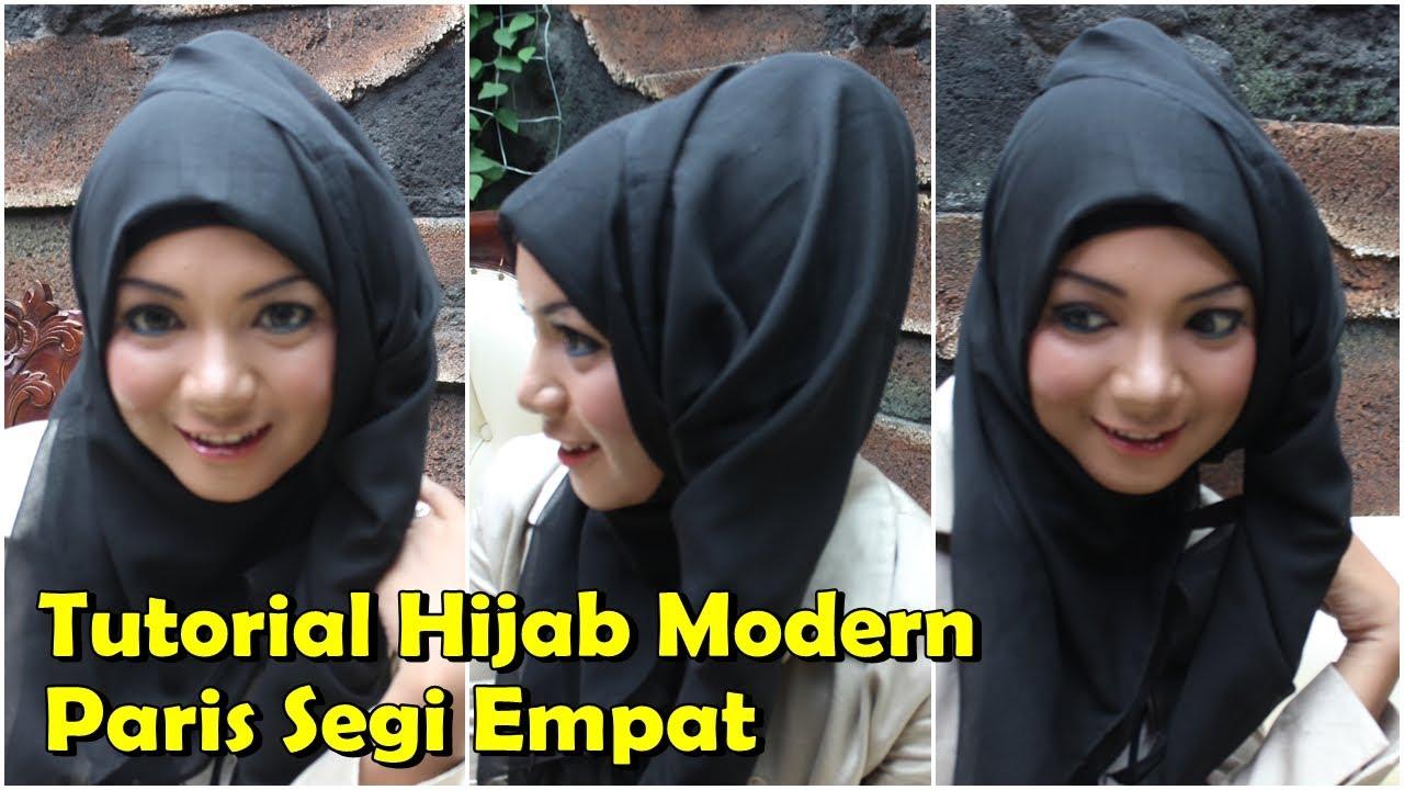 Tutorial Hijab Segi Empat Rawis Pesta