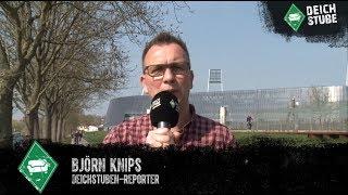 Björn Knips mit guten Nachrichten vom Werder-Abschlusstraining vor Gladbach