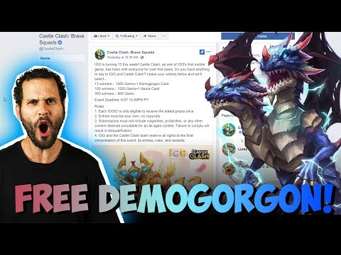 Free Demogorgon With Gems DONT MISS OUT Castle Clash