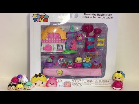 Alice in Wonderland Tsum Tsums Playset Pack Down the Rabbit Hole Unboxing