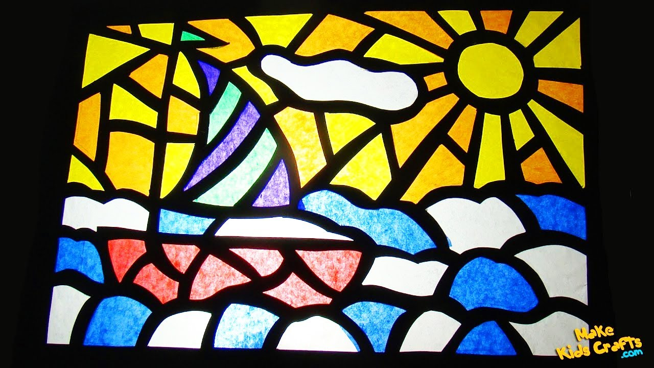 how to make stained glass youtube