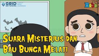 Cerita Misteri - Suara Misterius dan Bau Bunga Melati - Animasi Misteri