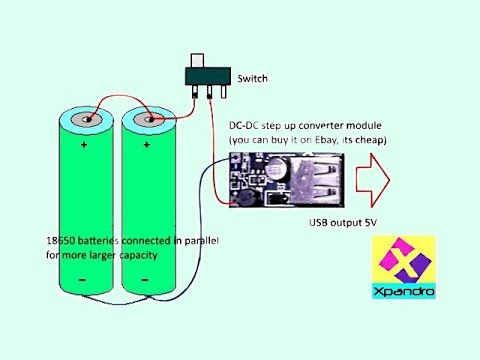 Make simple Power Bank with 18650 batteries - YouTube