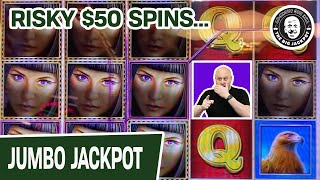 RISKY $50 Spins Playing Island Eyes Slots | BIG MONEY From The Big Jackpot's Stomping Ground
