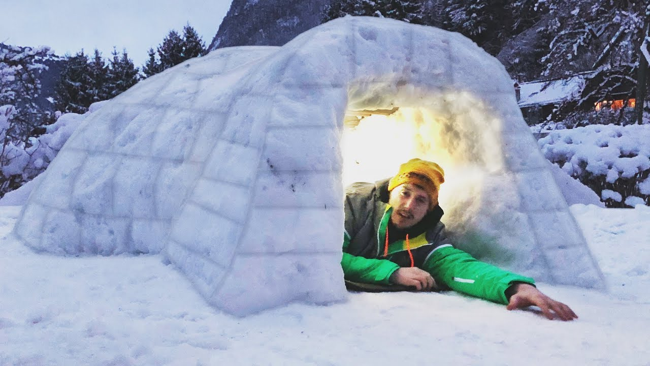i-built-a-homemade-igloo-spent-the-night-do-not-try-at-home-snow-fort-challenge