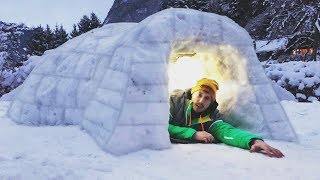 Video I Built a Homemade Igloo & Spent the Night… Do Not Try at Home! (Snow Fort Challenge) download MP3, 3GP, MP4, WEBM, AVI, FLV Oktober 2018