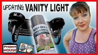 Spray painting bathroom Vanity Light Fixture