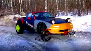 A Miata With Skis