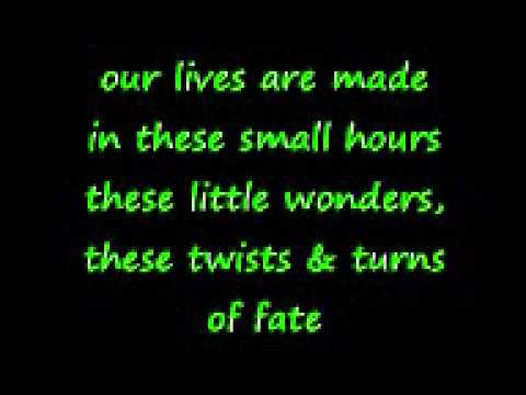 Rob Thomas-:) Little Wonders (Lyrics)
