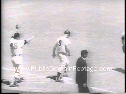 1962 All Star Game - JFK throws first pitch Stan Musial Willie Mays  PublicDomainFootage.com