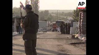 CROATIA: UN MONITOR SERBIAN REFUGEES EXODUS