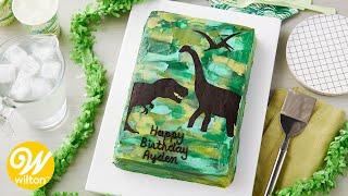 How to Make a Dinosaur Sheet Cake | Wilton