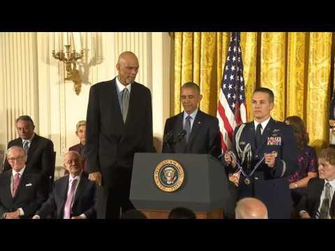 Kareem Abdul Jabbar Presidential Medal of Freedom 2016