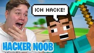 😂12 JÄHRIGER NOOB HACKER verarscht ADMIN komplett😂 (Minecraft)