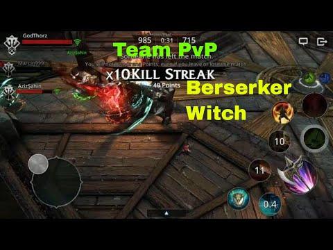 Darkness Rises Gameplay: Berserker/Witch Team PvP